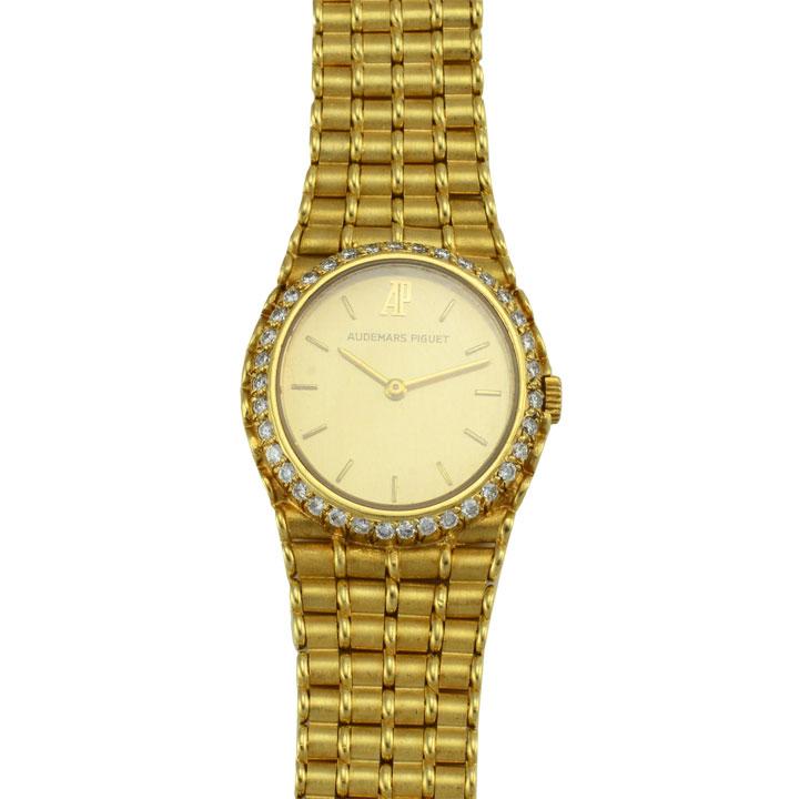 swiss 18 karat yellow gold audemars piguet wrist