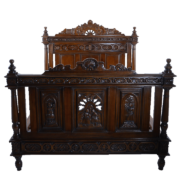 American-Queen-size-Carved-Walnut-Bed-SAUC122CHP_sq