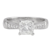 1.55 Carat VVS1 Princess Cut Diamond Ring
