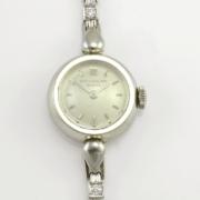 Swiss Patek Philippe Ladies Diamond Platinum Wrist Watch