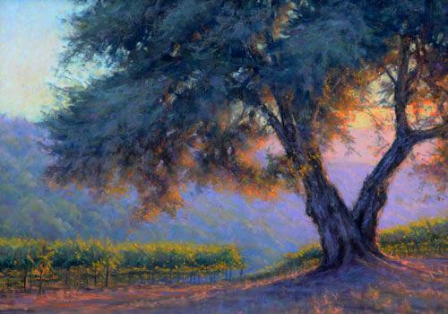Pastel Painting Prelude to Evening by Joe Mancuso