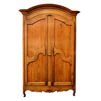 French Large Walnut Two Door Wardrobe