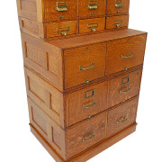 American Oak Stacking File Cabinet